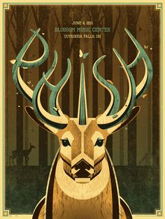 beautiful Phish poster by DKNG Studios