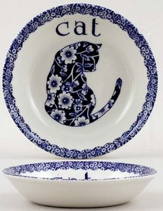Burleigh Calico Cat Milk Saucer