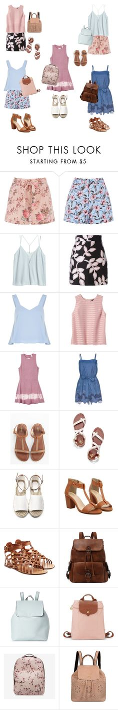 """Last week of school"" by emmers3113 ❤ liked on Polyvore featuring MSGM, Banana Republic, RVCA, Alice + Olivia, Tory Burch, Valentino, Street Level, Longchamp, Bally and Mellow World"