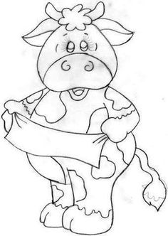 28 Super Ideas for how to paint a cow awesome Animal Coloring Pages, Colouring Pages, Coloring Books, Cartoon Drawings, Animal Drawings, Art Drawings, Wood Craft Patterns, Painting Patterns, Tole Painting