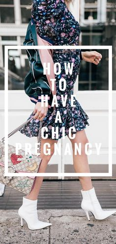 Rebecca Taylor floral dress // Gucci embroidered shoulder bag // Jeffrey Campbell pointy toe white booties // Blogger Lindsey Lutz from Life Lutzurious shows you 5 ways to have a chic pregnancy with fall florals