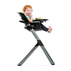 The magnetic highchair from 4moms will last till your kids are in elementary school, and adapt to fit their needs at each stage.