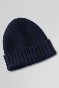 Men's CashTouch Rib Knit Hat from Lands' End