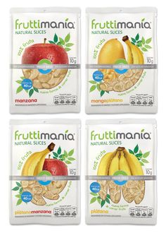 Fruttimanía, an innovative healthy snack designed by Tridimage, expresses its identity by means of the natural feel of the fruit illustrations and a powerful brand message.