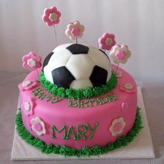 Soccer birthday cake.