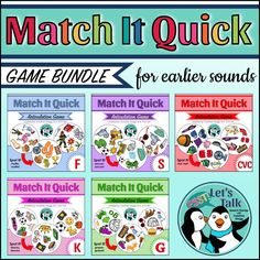 Completely updated bundle of articulation games for /f, s, k, g/ and CVC words. Fun speech therapy game! -great for carryover!