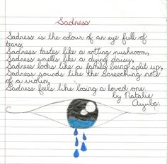 5 senses simile poem - example
