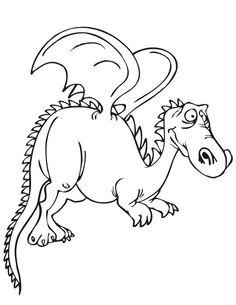 Coloriage dragon à imprimer gratuitement