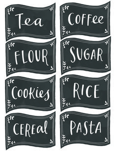 printable coffee tea and sugar label - Google Search
