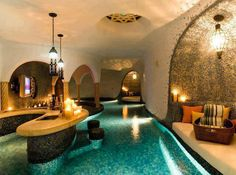 Lazy River in House! It should be like water then a glass floor