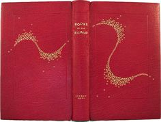 Books in the Blood  Anthony Rota  Red Goatskin, gold tooling, gold lettering.