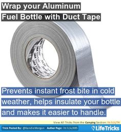Camping - Wrap your Aluminum Fuel Bottle with Duct Tape