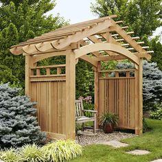 Arching Garden Arbor Woodworking Plan, Outdoor Backyard Structures