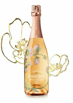 Wine Label Design, Bottle Design, Rose Vintage, Perrier Jouet, Wine Guide, Alcohol Bottles, Wine Packaging, Champagne Bottles, Sparkling Wine