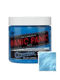 Manic Panic Creamtones Perfect Pastel Hair Color - Blue Angel Manic Panic Creamtones Perfect P Manic Panic Blue, Manic Panic Colors, Manic Panic Hair Color, Permanent Hair Dye Colors, Semi Permanent Hair Dye, Pastel Blue Hair, Dyed Hair Blue, Semi Permanente, Temporary Hair Color