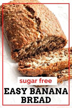 Delicious super moist one bowl banana bread recipe perfect as a healthy breakfast for you and your family.  Can make with chocolate chips or walnuts to keep it sugar free. This is the best side kick to your morning coffee. Easy Apple Cake, Apple Cake Recipes, Banana Bread Recipes, One Bowl Banana Bread, Sugar Free Banana Bread, Homemade French Onion Soup, Honey Cookies, Healthy Sugar, Chowder Recipes