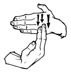 "American Sign Language: ""bread"""