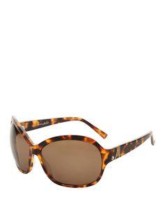 Sunglasses - uv protection - original case - frame: acetate - temples length: 130 mm - lenses diameter: 67 mm - bridge w - Sunglass women Brown