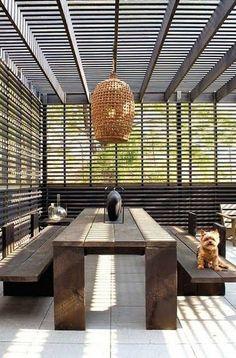 Kleine Pergola Selber Bauen - - Backyard Pergola Videos With Fireplace - - Covered Pergola Attached To House - Retractable Pergola Waterproof Patio Outdoor Areas, Outdoor Rooms, Outdoor Dining, Outdoor Decor, Outdoor Lamps, Indoor Outdoor, Patio Design, Exterior Design, House Design