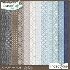 Almost Winter Pattern Papers :: Gotta Pixel Digital Scrapbook Store by Lindsay Jane $2.00