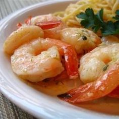 Crevettes au beurre et à l'ail