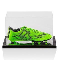 Gareth Bale Hand Signed Football Boot Adidas F10 Green With Acrylic Display Case - Autographed Soccer Cleats * Check this awesome product by going to the link at the image.