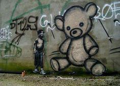 Teddy Bear graffiti
