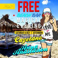 A magical evening on Sat 4 July, with Cayetano & Anna Anastasiou at FreeBeachBar, Ios Island Greece #visitgreece #freebeachbar #iosgreece