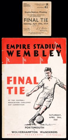 1939 Cup Final programme & ticket