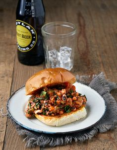 Sloppy Black-Eyed Pea Sandwich from Vegan Slow Cooking for Two #vegan #slowcooker