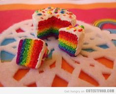 Maybe if I make a baby cake, I can make the rainbow thing work. I do NOT know how people keep the layers flat.
