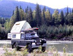 Defender camping