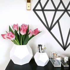 Spotted! Form meets function with our Faceted White Vases.