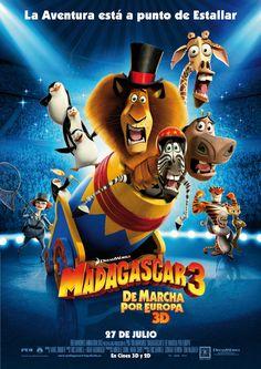 Cartel España de 'Madagascar 3: De marcha por Europa'