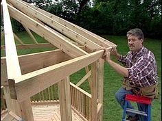 How to build a Gazebo. DIY Timber Frame Wood back yard Gazebo. Simple wo...