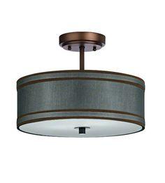 Dolan Designs Rio 3 Light Semi-Flush Mount in Neuvelle Bronze 5115-220 #lightingnewyork #lny #lighting