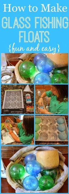 DIY Beach Glass Floats!