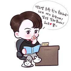 Chibi, Fanart, Exo Fan Art, Baekhyun, Exo Exo, All Art, Disney Characters, Fictional Characters, Family Guy