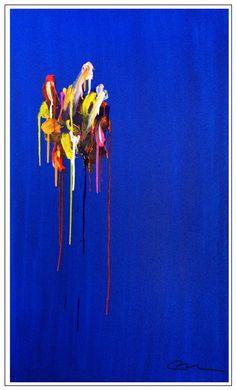 """Unraveling Madness"", acrylic on canvas, 60"" x 36"" x 3"", ©Mac Worthington, artist, 2015"