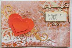 Käsitöitä flamencohame hulmuten - Siiri Viljanen wedding card