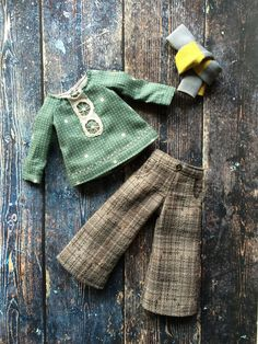 Half-mast trousers set for Blythe - Check