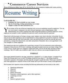 make a resume