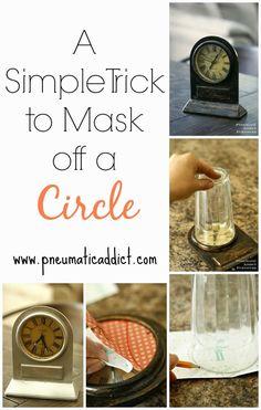How I #Mask Off a Circle. #diyprojects #diyideas #diyinspiration #diycrafts #diytutorial