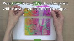 Gelli Transfer Film - just when I think I can't love gelli printing more this comes along ...