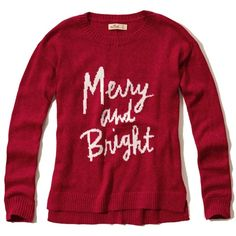Hollister Intarsia Crew Sweater ($20) ❤ liked on Polyvore featuring tops, sweaters, shirts, crewneck sweaters, crew neck pullover sweater, crew shirt, sweater pullover and print shirts