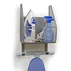 Ironing Board Holder - Holds Iron and Board Image