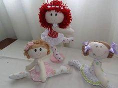 Eu Amo Artesanato: Boneca bailarina com molde
