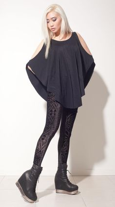 Black Milk Clothing - Burned Velvet tights