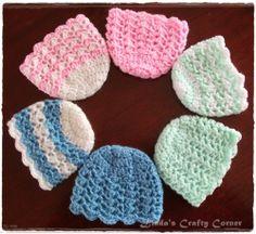 Lisha Baby Hat ~ preemie hats ~ free pattern ᛡ
