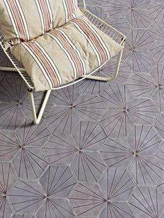 More stunning danish tiles - same pattern, different configuration Dandelion - lavender/aubergine